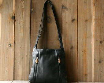 Supple Leather Purse Crossbody Bag Thick Soft Yummy Leather Vintage From Nowvintage on Etsy