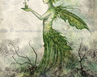 5x7 Seedling fairy PRINT by Amy Brown