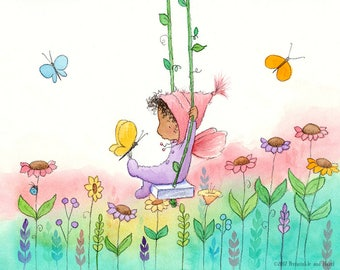 Calla Belle In the Garden - Fairy Art - Art Print