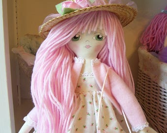 Darling Doll Emma...Hand Painted...22 inches tall....Pink....So Sweet