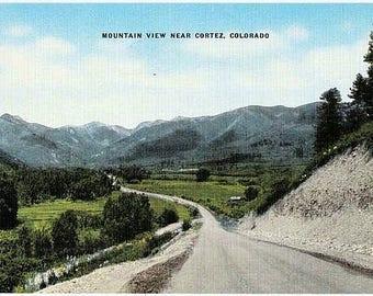 Vintage Colorado Postcard - Scenic Drive in the Mountains, near Cortez (Unused)