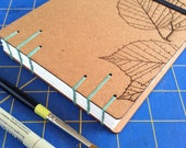 Leaf Sketchbook with wate...