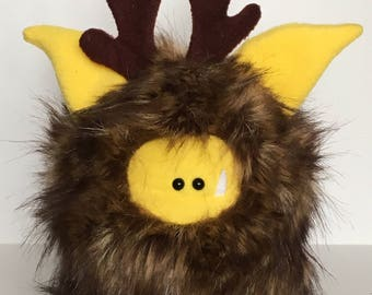 Handstitched Monster Toy - FuzzliFawn - Cute Stuffed Monster - Monster Softie - Christmas Gift - Handmade Plush Animal Toy - Fuzzling