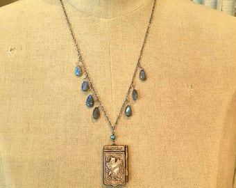 J'aime Paris - Antique French Souvenir Remembrance Booklet Necklace