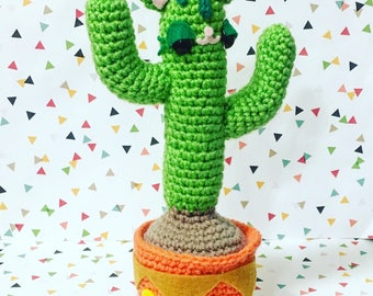 Kitty Cactus Pattern PDF - Instant Download - DIY - Kitsch - Home Decor - Apartment Therapy - Crazy Cat Lady