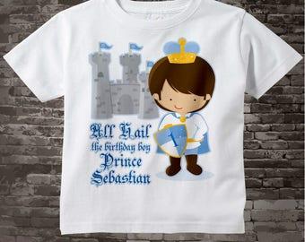 Birthday Shirt, Prince Birthday Shirt, Personalized Cute Prince Birthday Boy Tee Shirt or Onesie 03092012b