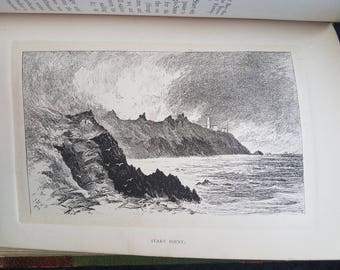 1895 The Coasts of Devon and Lundy Island by John Lloyd Warden Page - Victorian Engravings of Devon and English Coastline