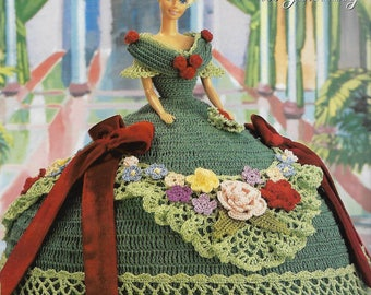 Original Annie's Attic Cotillion Collection Gown, Miss January, 1992 Crochet Dress Pattern