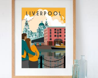 Art Print of Liverpool Albert Dock and the Three Graces
