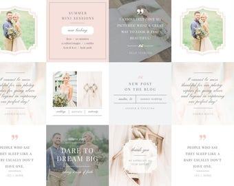 Photography Templates - Social Media Marketing Templates - Pre-made Branding Designs - Instagram Post Template