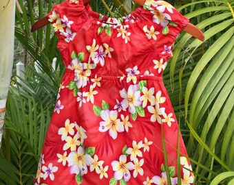 Girls Handmade Hawaiian Muu Muu Dress Kalea made in Hawaii