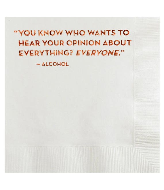 opinion napkins. #583