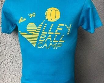 1990 Volleyball Camp vintage t-shirt - size medium