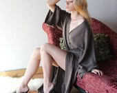 cashmere wool robe in soft thick sweater knit - made to order