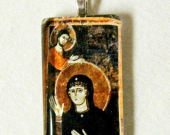 Mary with Christ pendant with chain - GP01-603 - 50% OFF