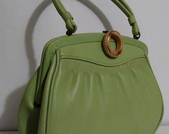 Vintage 60s Green Kelly Bag by Markay