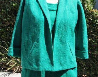 4 piece Vintage Emerald wool suit