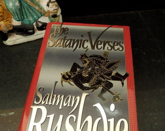 The Satanic Verses Novel By Salman Rushdie  - 1988 First American Edition Original Dust Jacket - Literary Gift - Vintage Book Literary Gift