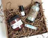 Organic Spa Gift Set // Medium // All Natural // Bath Set