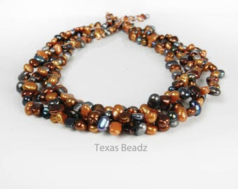 Orange and Black Pearls Mixed Color Halloween Fall Loose Pearls Beads Multi Color Flat Back Nugget Pearls