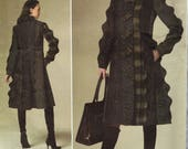 Vogue 1213 / Designer Sewing Pattern By Koos Van den Akker / Coat / Sizes 3 8 10 12