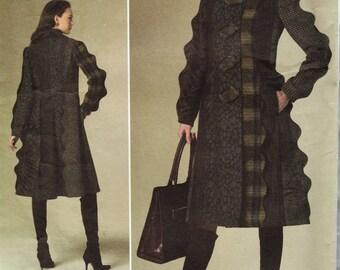 Vogue 1213 / Designer Sewing Pattern By Koos Van den Akker / Coat / Sizes 3 8 10 12