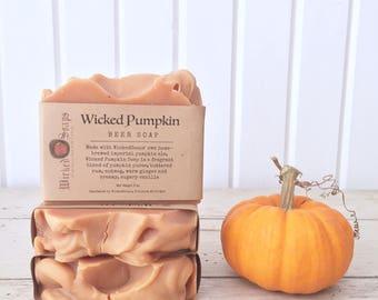 Wicked Pumpkin Beer Soap - Imperial Pumpkin Beer Soap, Pumpkin Soap, Cocoa Butter Soap