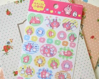 02 Kanahei Rabbit and Chick cartoon scrapbooking stickers