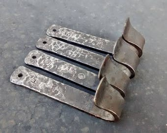 HOME Steel Stamped Decorative Wall Hooks // Rustic Hooks // Cute Hooks // Small Wall Hooks // Metal Stamps