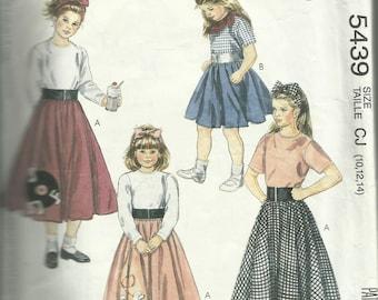 Vintage 1991 Easy McCalls Pattern 5439 Girls Poodle Skirt COMPLETE