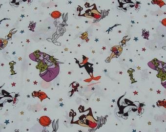 1996 Space Jam, Twin Flat Sheet, Looney Tunes, Craft Fabric
