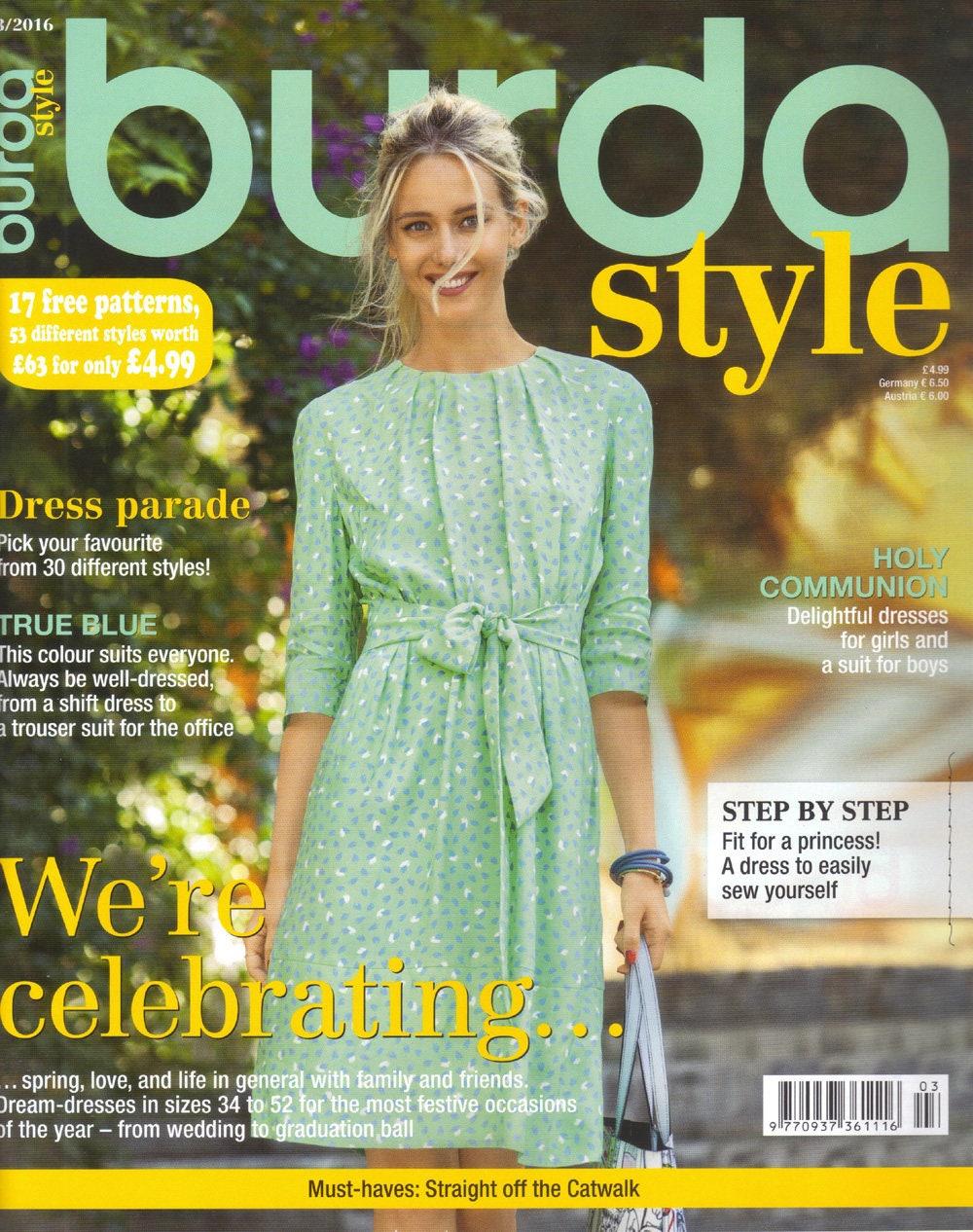 Burda style magazine 32016 english sewing patterns from get shipping estimate jeuxipadfo Image collections