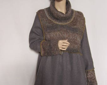 XL to 1X  Knit and Fleece Dress or Tunic