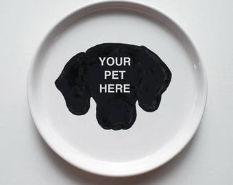 Pet Portrait Dessert Appetizer Plate featuring your pet | custom personalized plate | dog cat animal pet plate | created from your photo