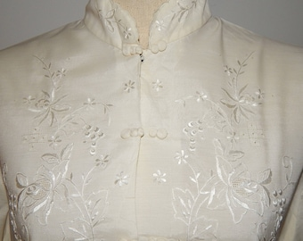 Daffodil White Ivory Cheongsam Cotton/Polyester Blend Top Blouse Bust 42 Size US 16
