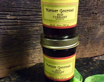 Red Currant Fruit Preserves, Homemade Jam, Food, Made in Michigan, Condiment Spread, Ice Cream Topping, Wedding Favor Edible Gift