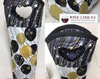 Celebration Wine Bag Birthday Wine Gift Bag 50th Birthday Anniversary Gift Wine Gift Golden Anniversary Balloons