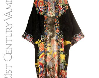 Original 1920s 30s Kimono Robe. Fabulous Art Deco Design. Flapper. Jazz Age. Made In Japan. Housecoat.