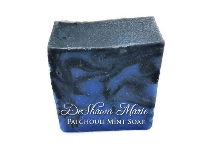 3 lb Patchouli Mint Activated Charcoal Soap Loaf