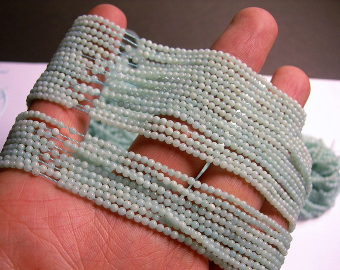 Amazonite - 2mm(2.2mm) round beads -1 full strand - 180 beads -PG27