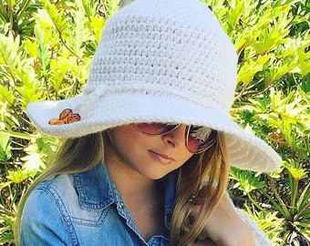 Brim Hat Crochet Pattern, Hat Crochet Pattern, Boho Hat Crochet Pattern, Women's Hat, Girl's Hat, Beach Hat Crochet Pattern, Crochet Pattern