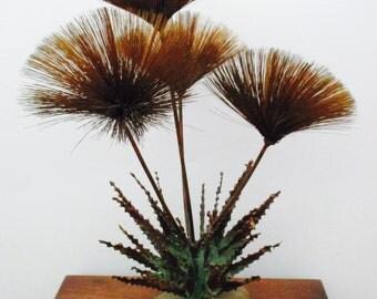 Alfred Steck Mid Century Modern Brutalist Brass Urchin Spore Spray Sculpture Like C Jere