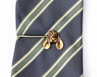 Basset hound tie clip