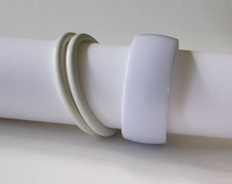White Bangle Bracelets