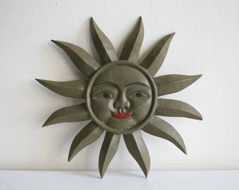 SALE Thailand Carved Sun Wall Hanging