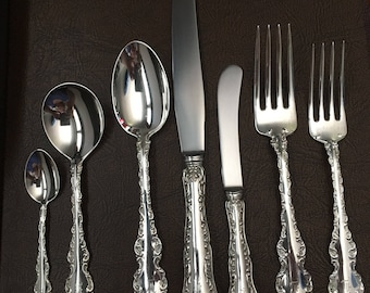 Sterling Louis XV  7-Piece Place Setting - Gorgeous!!
