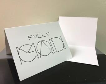 "Greeting Card - 5.5 x 4 "" - Blank Inside"