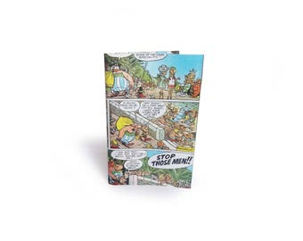 Asterix Passport Cover - Recycled Vintage Comic in Vinyl - Travel Wallet