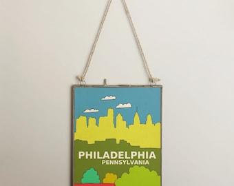 Philadelphia, Pennsylivania // Urban, City Skyline Illustration, Kids Room, Nursery Decor, Home Town Love, City Pride, Hometown, City Poster