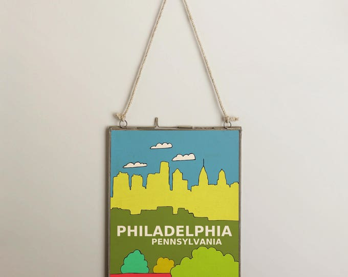 Philadelphia, Pennsylivania // Urban, City Skyline Illustration, Kids Room, Nursery Decor, Home Town Love, City Pride, Hometown, City Poster